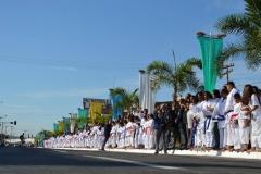 Passagem da Tocha Olímpica pela cidade de Trindade-GO