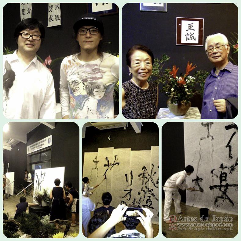 Futoshi Yoshikawa e Shoji Kaneda; Takeshi Murakoshi e senhora. Fotos de Teruko Monteiro