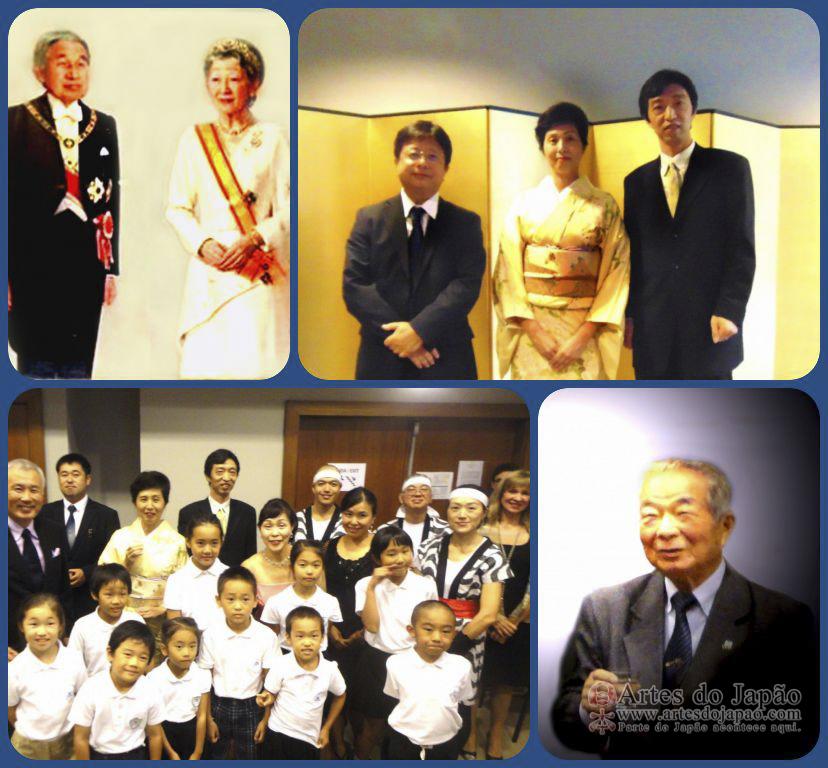 Vida longa ao Imperador do Japão.